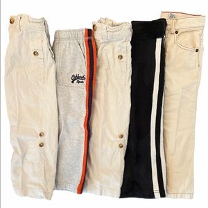 New 4T Toddler Boys Pants! 5 pairs!